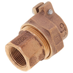 """1"""" x 3/4"""" Pack Joint (CTS) x FNPT Coupling - T-4305NL (No Lead Bronze) Product Image"""