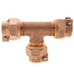 """3/4"""" Pack Joint (CTS) Tee - T-4441NL (No Lead Bronze) Product Image"""