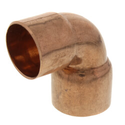 "1-1/2"" x 1-1/4"" Copper 90° Elbow Product Image"