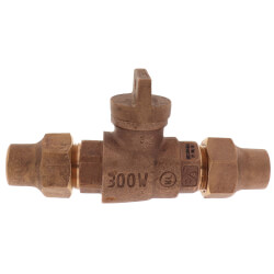"3/4"" Flare x Flare Curb Stop - T-5200NL (No Lead Bronze) Product Image"