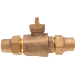 "1"" Flare x Flare Curb Stop - T-5200NL (No Lead Bronze) Product Image"