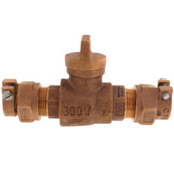 """3/4"""" Pack Joint (CTS) x Pack Joint (CTS) Curb Stop - T-5300NL (No Lead Bronze) Product Image"""