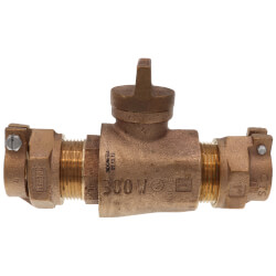 """1"""" Pack Joint (CTS) x Pack Joint (CTS) Curb Stop - T-5300NL (No Lead Bronze) Product Image"""