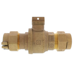 """2"""" Pack Joint (CTS) x Pack Joint (CTS) Curb Stop - T-5300NL (No Lead Bronze) Product Image"""