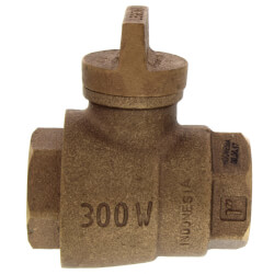 "1"" FNPT x FNPT Curb Stop T-5500NL (No Lead Bronze) Product Image"