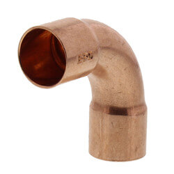 """5/8"""" Copper 90° Long Turn Elbow Product Image"""