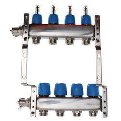 "4 Loop 1-1/4"" Stainless Steel Manifold w/ Flowmeter & Ball Valve (Fully Assembled) Product Image"