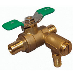 """3/4"""" Full-Port Bronze Ball Valve w/ 125 PSI Relief Setting & 1/2"""" Drain Fitting (Lead Free) Product Image"""