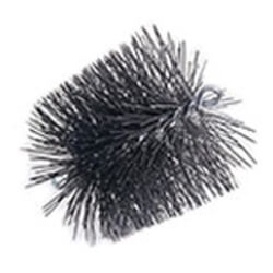 "6"" Round Pro-Sweep Heavy Duty Poly Chimney Brush (3/8"" MPT) Product Image"