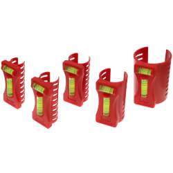 "5 Piece Pipe Level Set (1/2"" to 2"") Product Image"