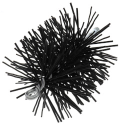"6"" Round Pro-Clean Home Poly Chimney Brush (1/4"" MPT) Product Image"
