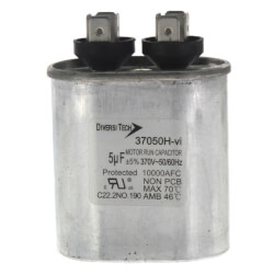 7.5 MFD Oval Run Capacitor (370V) Product Image