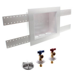 "1/2"" Sweat QUADTRO Washing Machine Outlet Box 1/4 Turn Ball Valves Product Image"
