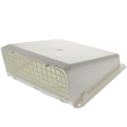 "8"" White Plastic Wall Vent Product Image"