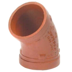 "1"" Grooved 45° Elbow (7051 Series) Product Image"