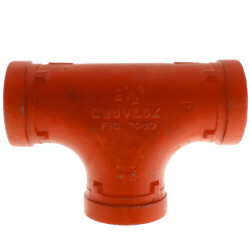 """1-1/4"""" 7060 Grooved Tee Product Image"""