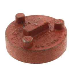 """1"""" 7074 Grooved Cap Product Image"""