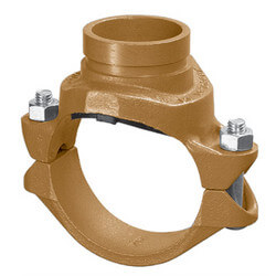 "8"" x 4"" 7046 Clamp-T with Grooved Branch Product Image"