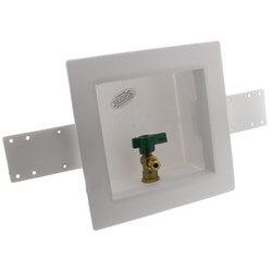 Square Ice Maker Outlet Box w/ 1/4 Turn Lead Free Valve (Pex Crimp) Product Image