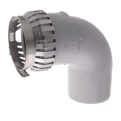 "3"" PolyPro 90° Elbow w/ Locking Clamp Product Image"