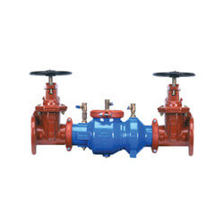 "4"" Wilkins 350ADABG Double Check Valve Assembly w/ Grooved End Butterfly Valves Product Image"