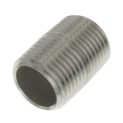 "1/2"" x Close Stainless Steel Nipple Product Image"