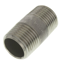 "1/2"" x 1-1/2"" Stainless Steel Nipple Product Image"
