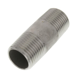 "1/2"" x 2"" Stainless<br>Steel Nipple Product Image"