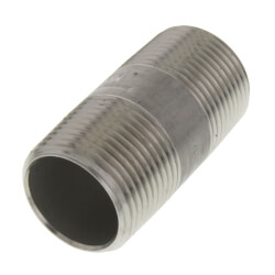 "3/4"" x 2"" Stainless<br>Steel Nipple Product Image"