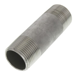 "3/4"" x 3"" Stainless<br>Steel Nipple Product Image"