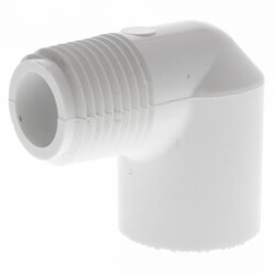 "1/2"" PVC Sch. 40<br>90° Street Elbow (MIPTxSOC) Product Image"