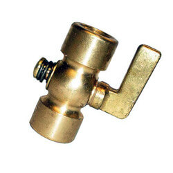 "1/4"" Spring Bottom, Heavy Pattern Air Cock w/ Lever Handle Product Image"