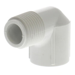 "1/2"" PVC Sch. 40<br>90° Street Elbow<br>(Male x Fem) Product Image"