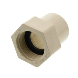 """3/4"""" CTS CPVC Female Adapter w/ Gasket<br>(Socket x NPSC) Product Image"""