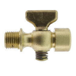 "1/4"" Spring Bottom, Double Female Air Cock w/ Tee Handle Product Image"