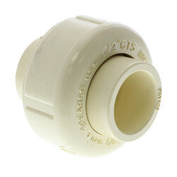 "1/2"" CTS CPVC Union (Socket w/ EPDM O-ring Seal) Product Image"