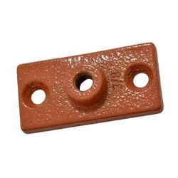 """3/8"""" Copper Epoxy Coated Ceiling Plate Product Image"""