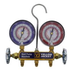 "Series 41 Heat Pump Manifold w/ 60"" Hoses (R22/R407C/R410A) Product Image"