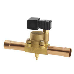 "1/4"" ODF R12E22 Normally Closed Refrigeration Solenoid Valve Product Image"