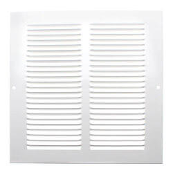 """6"""" x 6"""" (Wall Opening Size) White Return Air Grille (650 Series) Product Image"""