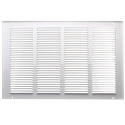 """6"""" x 10"""" (Wall Opening Size) White Return Air Grille (650 Series) Product Image"""