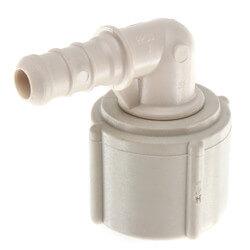 """3/8"""" PEX Crimp x 1/2"""" Lav PureFlow Elbow (Plastic Nut) Product Image"""