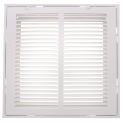 """12"""" x 12"""" (Wall Opening Size) White Sidewall/Ceiling Return Air Filter Grille (673 Series) Product Image"""