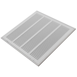 """10"""" x 10"""" (Wall Opening Size) White Sidewall/Ceiling Return Air Filter Grille (659 Series) Product Image"""
