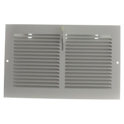 "10"" x 6"" (Wall Opening Size) White Sidewall Register (651 Series) Product Image"