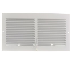 """12"""" x 6"""" (Wall Opening Size) White Sidewall Register (651 Series) Product Image"""
