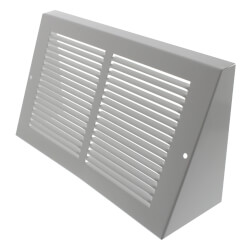 "10"" x 6"" White Baseboard Return Air Grille <br>(658 Series) Product Image"