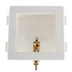 """Ice Maker Outlet Box with 3/8"""" PEX Crimp Valve (Lead Free) Product Image"""