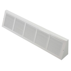 "30"" x 6"" White Baseboard Return Air Grille <br>(658 Series) Product Image"