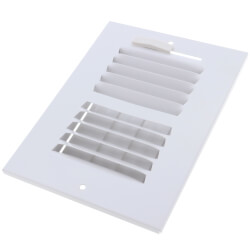 """6"""" x 4"""" (Wall Opening Size) White Two-Way Steel Sidewall/Ceiling Register (682 Series) Product Image"""